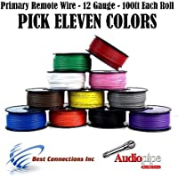 12 GA PRIMARY POWER GROUND WIRE (11) 100FT ROLLS BOAT CAR 12- 80 VOLT MULTI COLOR