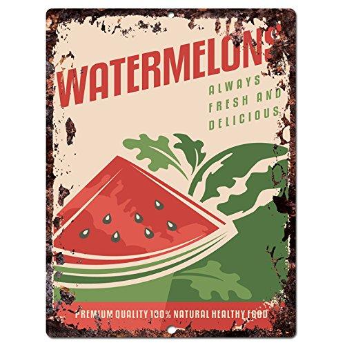 Watermelons Chic Sign Rustic Vintage Retro Kitchen Restau...