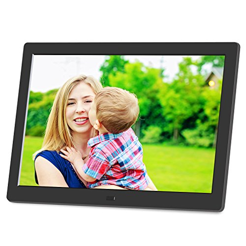 AKImart 8 inch Digital Photo Frame IPS High Resolution 1280X800 Pixel HD Video Support Auto Play Slideshow Video Playback Picture Frame with Remote Control by AKImart