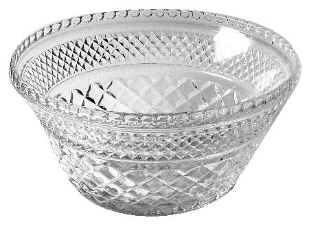 Crimped Edge Bowl (Anchor Hocking Wexford Clear Glass ( 9 5/8