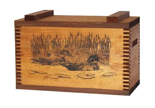 Evans Sports Standard Ammo Box, Wood (Duck Hunting Gun)