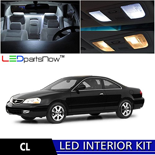 3 Acura CL LED Interior Lights Accessories Replacement Package Kit (13 Pieces), WHITE (Acura Cl Light)