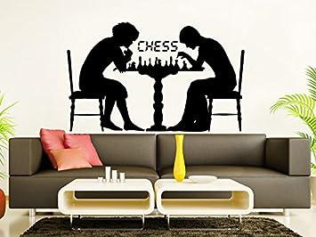 Adhesivo decorativo para pared piezas de ajedrez estrategia juego ...