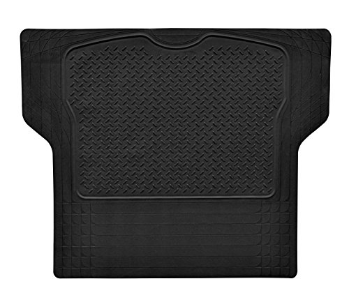 Heavy Duty Rubber Trunk Cargo Liner Floor Mat All Weather Trunk Protection Trimmable to Fit & Durable pvc Rubber (Black)