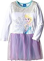 Disney Girls' Long Sleeve Elsa Dress
