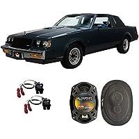 Fits Buick Regal 1984-1987 Rear Deck Factory Replacement Speaker Harmony HA-R69 Speakers
