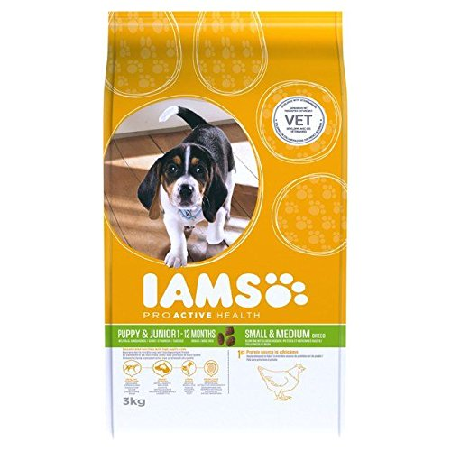Iams Puppy & Junior Small Medium Breed Large Dry Dog Food 3kg (PACK OF 2)