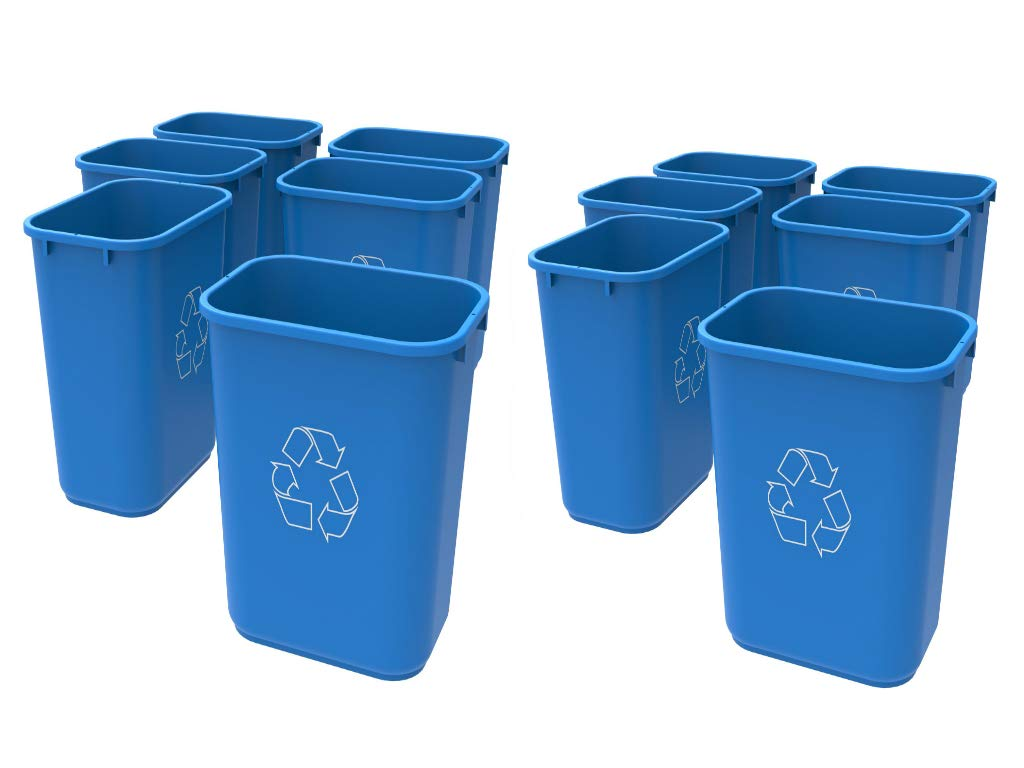 Storex Medium Recycling Basket, 15 x 10.5 x 15 Inches, Blue (12 Units)
