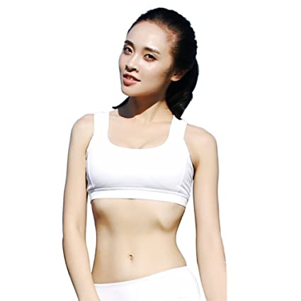 fe0cdb99ff5 Buy Women s Yoga Sport Bra Norbi Running Shockproof Double Shoulder Strap  Beauty Back Bra Underwear Black White Online at Low Prices in India -  Amazon.in