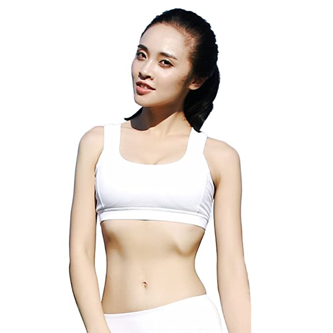 c2329af06e Daxin Women s Yoga Sports Bra Running Shockproof Double Shoulder Strap  Beauty Back Bra Underwear Black White at Amazon Women s Clothing store