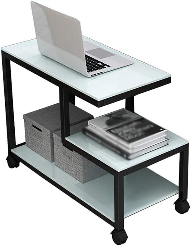 Winkelen Voor SZQ meerlagige tafel, woonkamer, koffietafel, slaapkamer, multifunctioneel, van glas, voor het verplaatsen van de tafel, exquise meter. D-80 * 35 * 55cm D 90 x 40 x 55 cm. bAS10Ai