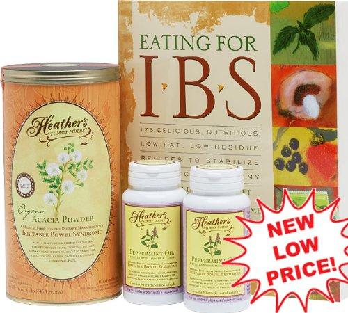 Syndrome du côlon irritable Diet Kit N ° 2 Heather - (! Plus de 20% de rabais) Manger pour IBS, Tummy fibre Acacia Sénégal Can, Caps huile de menthe poivrée