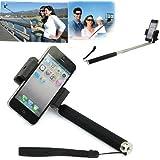 Extendable Camera Shooting Handheld Monopod Tripod Mount Holder for Iphone 5s 5c 5 4s 4 Ipod (Black)