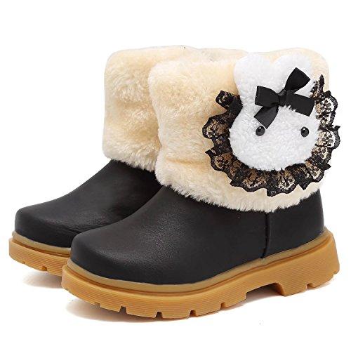 CIOR Snow Boots Baby Girls Infant Toddler Winter Fur Rabbit Shoes(Toddler/Little Kids)