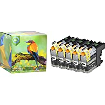Ink Hero 5 Black High Yield Cartridges for Brother LC-103 DCP J152W MFC J245 J285DW J4310DW J4410DW J450DW J4510DW J4610DW J470DW J4710DW J475DW J650DW J6520DW J6720DW J6920DW J6920DW J870DW J875DW