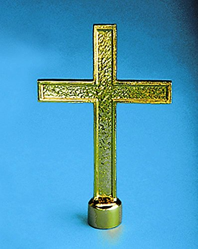 (Allied Flag Golden Plated Passion Cross Indoor Flag Pole Ornament)