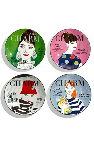 Tidbit Plate Set (Kate Spade 'make headlines' tidbit plates - Set of 4)