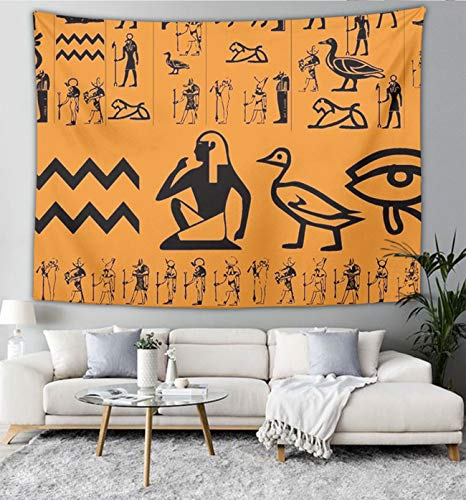 NiYoung Ancient Egypt Clipart Wall Tapestry Hippie Art Tapestry Wall Hanging Home Decor Extra Large tablecloths 50x60 inches for Bedroom Living Room Dorm Room ()