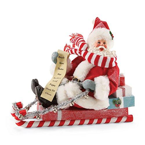 Department 56 Possible Dreams Peppermint Ride Santa, 8 inch