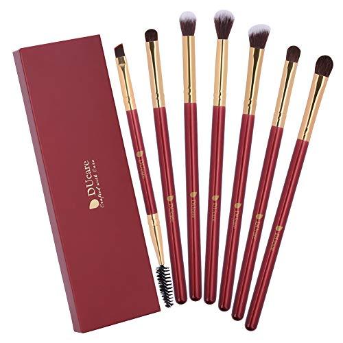 DUcare Eyeshadow Brushes 7Pcs Eye Blending Brush Set for Eyeliner Eyebrow Eye shadow Powder Cream Makeup Eye Cosmetic Make Up Tool