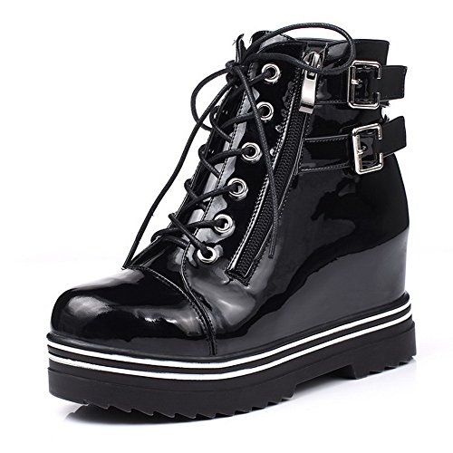 weipoot-womens-zipper-round-closed-toe-kitten-heels-pu-ankle-high-boots-black-patentleather-37