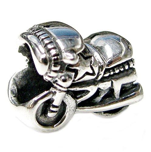 Sterling Silver Motorbike European Style Bead Charm