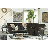 Hopkinton Contemporary Fabric Chocolate Color Reclining Sectional Sofa