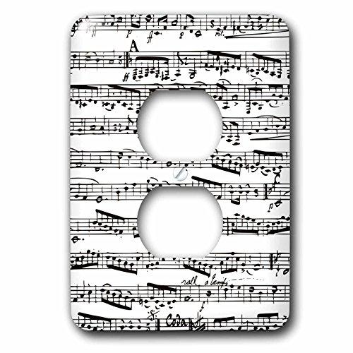 3d Rose 3dRose lsp_112825_6 Musical Notes Vintage Sheet M...