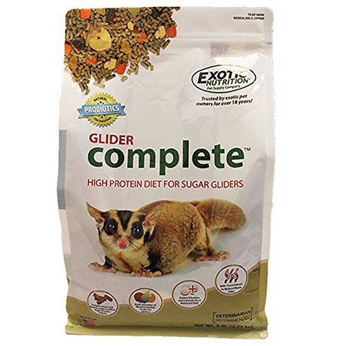 Exotic Nutrition Glider Complete 5 lb. - High Protein Sugar Glider Food (Sugar Nutrition Glider)