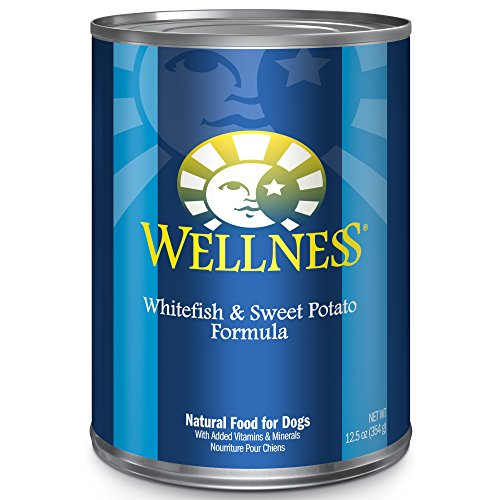 Wellness Complete Health Natural Wet Canned Dog Food, Whitefish & Sweet Potato, 12.5-Ounce Can (Pack Of 12) ()