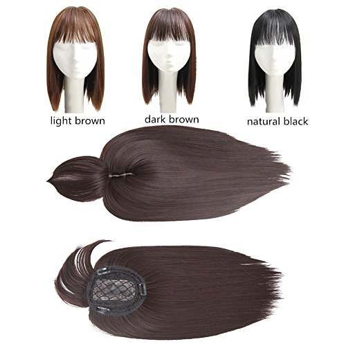 Human Hair Mono Hairpiece for Hair Loss Clip in\/on Hair Topper ...