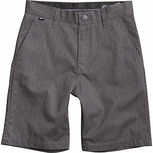 Cotton Pinstripe Shorts (Fox Head - Kids Big Boys' Essex Pinstripe Short, Charcoal Heather, 26)