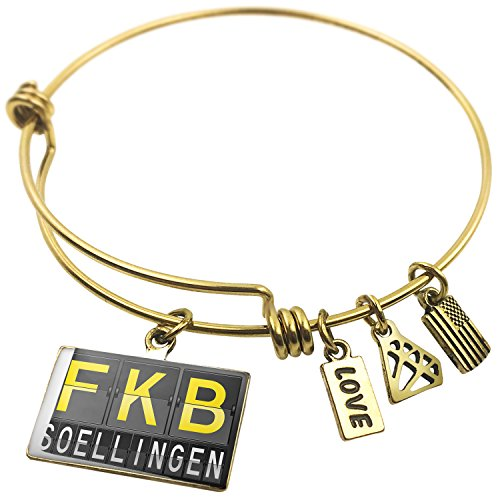Expandable Wire Bangle Braceletfkb Airport Code For Soellingen  Neonblond