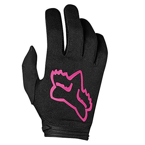 Dirtpaw Youth Gloves (Fox Racing 2019 Youth Girl's Dirtpaw Gloves - Mata (Youth Medium) (BLACK/PINK))