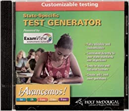 Avancemos Test Generator Customizable Testing Cd Rom 1a 1b 1uno 2dos 3tres Houghton Mifflin Harcourt 9780547005010 Amazon Com Books