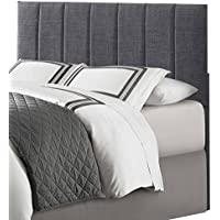 Homelegance Potrero Queen/Full Size Headboard, Gray Linen-Like Fabric
