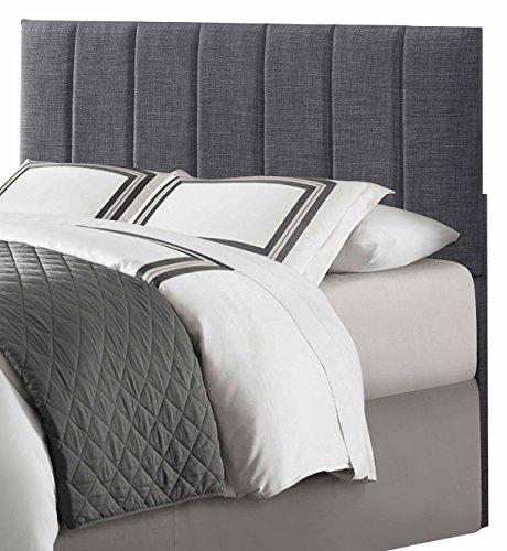 Homelegance Headboard Bedroom - Homelegance Potrero Queen/Full Size Headboard, Gray Linen-Like Fabric