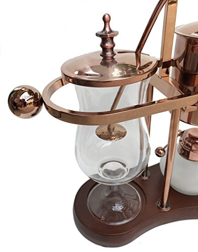 Nispira Belgian Belgium Luxury Royal Family Balance Syphon Siphon Coffee Maker Copper Color, 1 set by Nispira (Image #3)