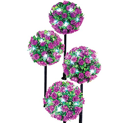 Solar Flower Topiary Garden Purple
