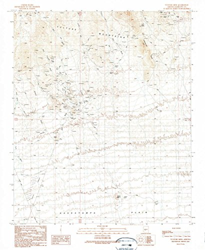 YellowMaps Vulture Mine AZ topo map, 1:24000 Scale, 7.5 X 7.5 Minute, Historical, 1990, Updated 1990, 26.8 x 22 in - Paper