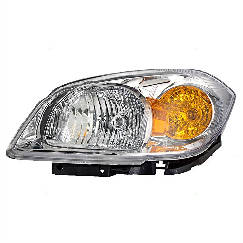 Drivers Headlight Headlamp Clear Lens Amber Signal Reflector with Bracket Replacement for Chevrolet Pontiac 22740621 AutoAndArt ()