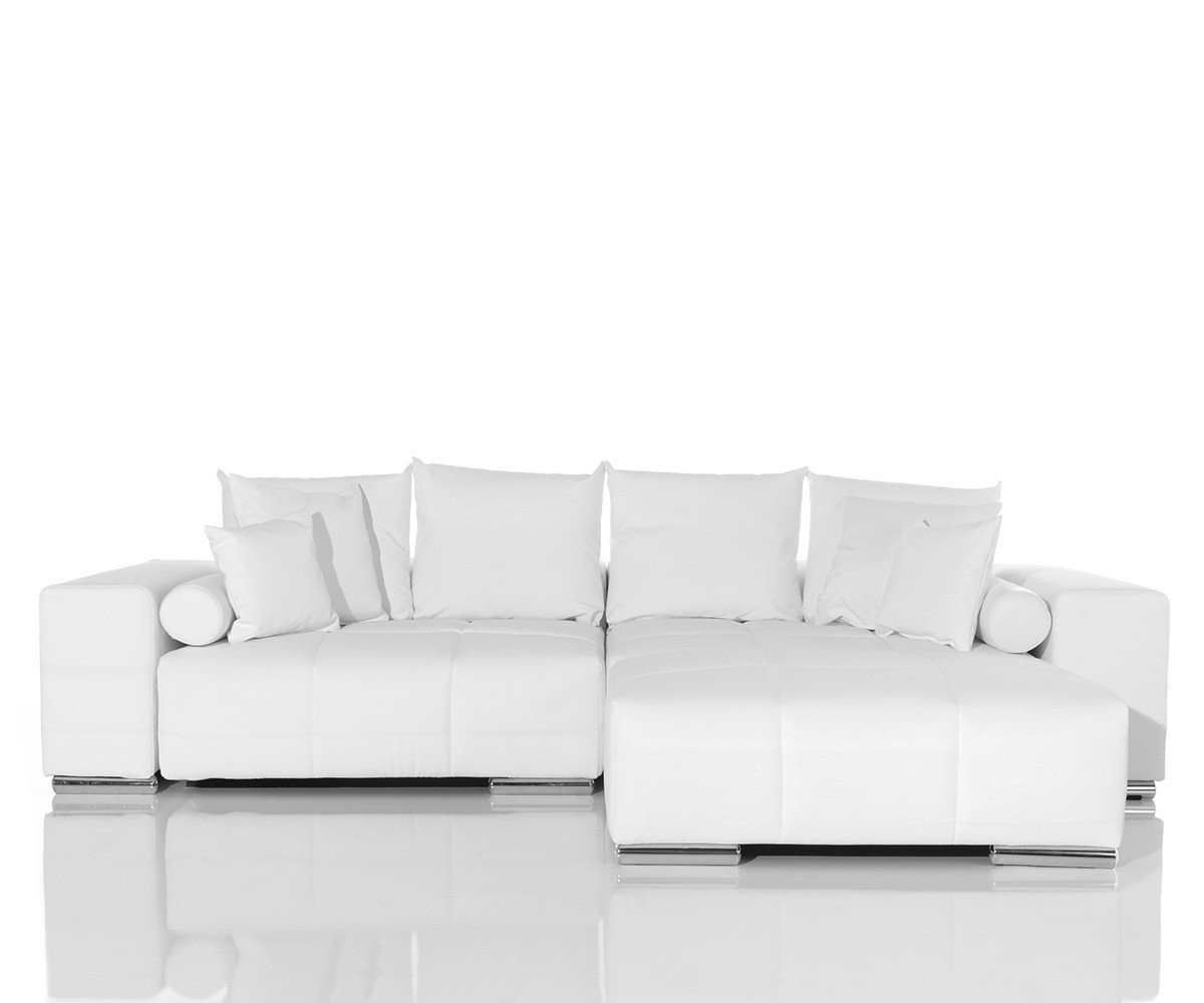 couch marbeya weiss 285x115 cm inklusive hocker und kissen big sofa online bestellen. Black Bedroom Furniture Sets. Home Design Ideas