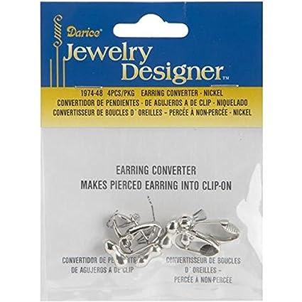 Darice Earring Converter Pierced To Clip Nickel 4 Pack Amazon Ca