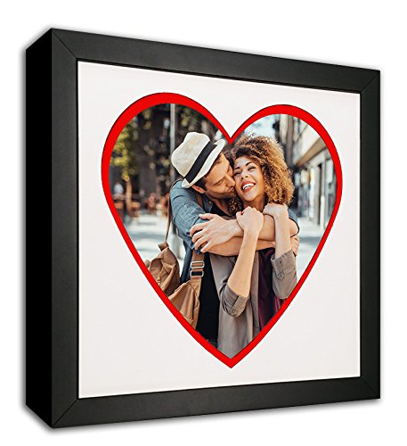 Heart Mat Cut-Out Picture Frame with Red Accent