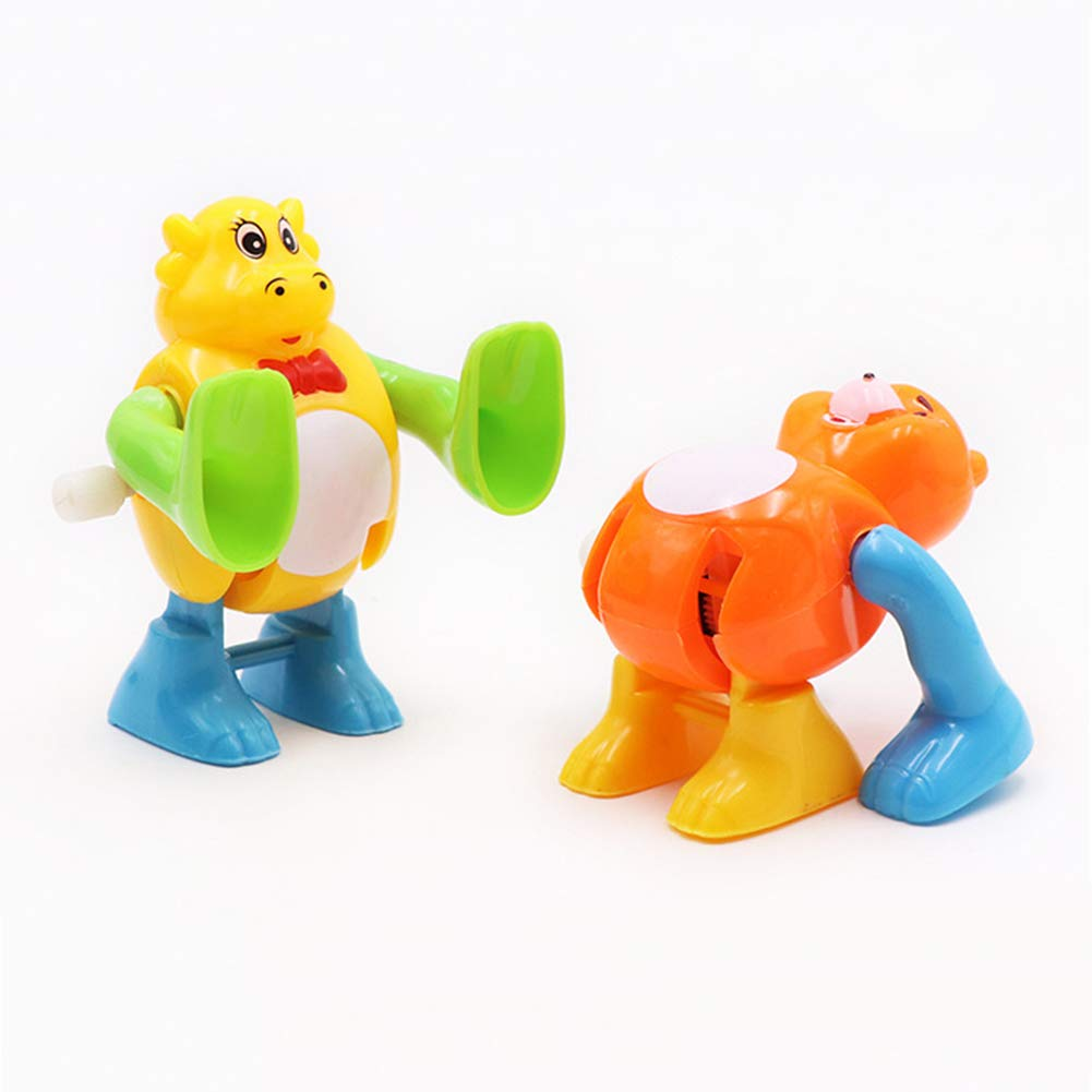 xMxDESiZ 2 st/ücke kreative Cartoon Tier Kinder flip Over Wind up Somersault Clockwork Spielzeug Zuf/älliger Stil