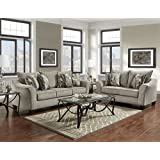 Roundhill Furniture LAF7700CP Camero Sofa Loveseat Set