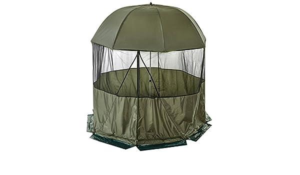 Brolly - Refugio de pesca paraguas con cubierta extraíble de cúpula lateral diámetro 2,50 M: Amazon.es: Deportes y aire libre