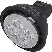 Philips 5.5 Watt LED MR-16 Bulb - 12 Volt - GU5.3 Base - 2,700 Kelvin - 290 Lumens - 80 CRI - 25,000 Average Hour Life - 24° Narrow Flood Pattern - Replaces 20W BBF Halogen Bulb