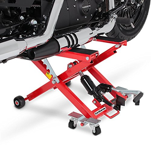 ConStands Motorcycle Scissor Lift XL for Harley Davidson Dyna Wide Glide red
