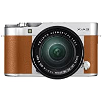 Fujifilm X-A3 Mirrorless Digital Camera with XC16-50mm Lens (International Model No Warranty) (Camel Brown)